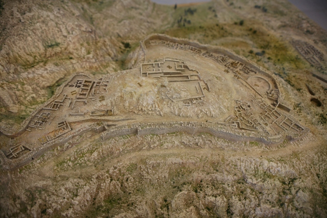 Arial view of the Mycenae citadel