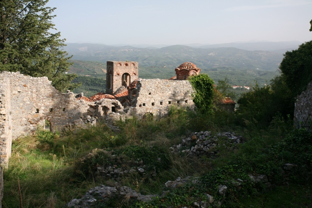 Mystras - View towards the Church of St. Sophia