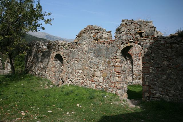 Mystras - Storage rooms opposite church of St. Sophia