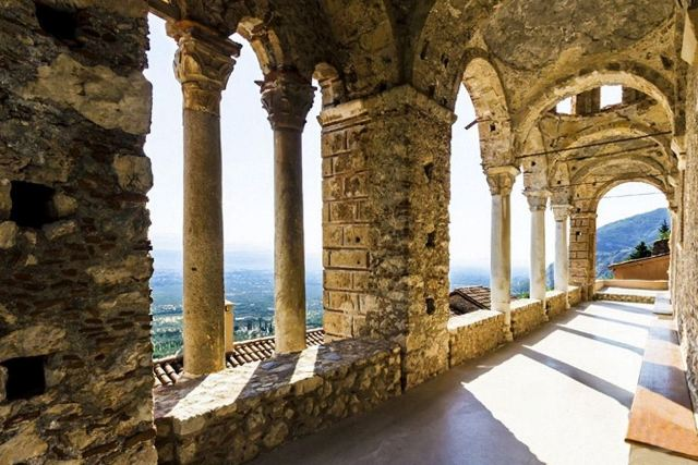Mystras - Pantanassa Convent arched colonnade