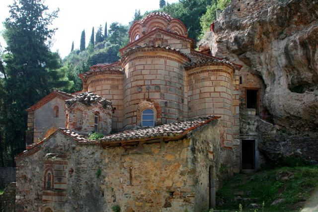 Mystras - Monastery of the Peribleptos - Sanctuary and chapels