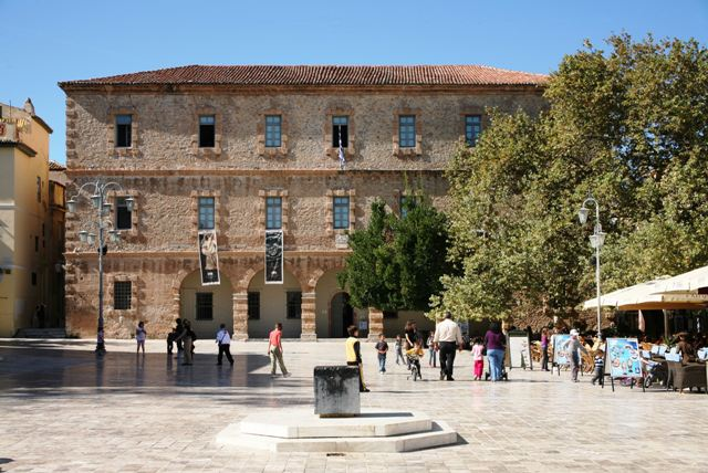 The Nafplio archaeological museum of the Peloponnese