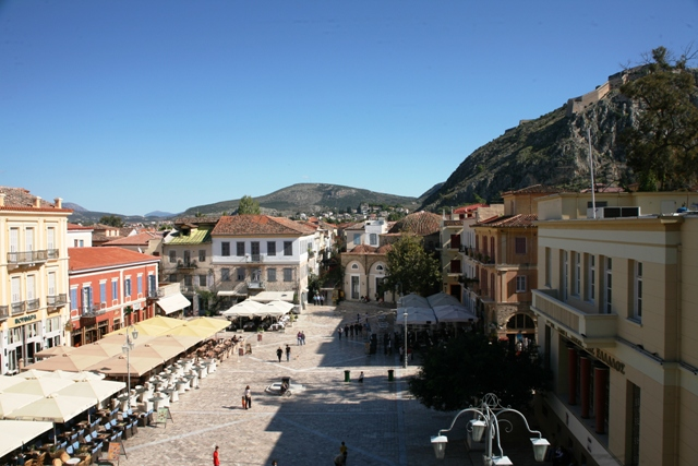View of the old town from the archaeological museum