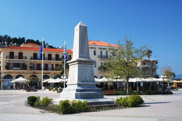Nafplio - The Liberty memorial by the old harbour