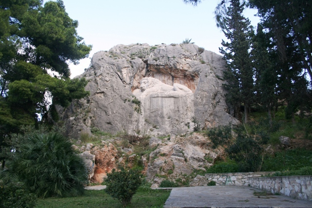 Nafplio - The 'Sleeping Lion of Bavaria' memorial to Bavarian soldiers