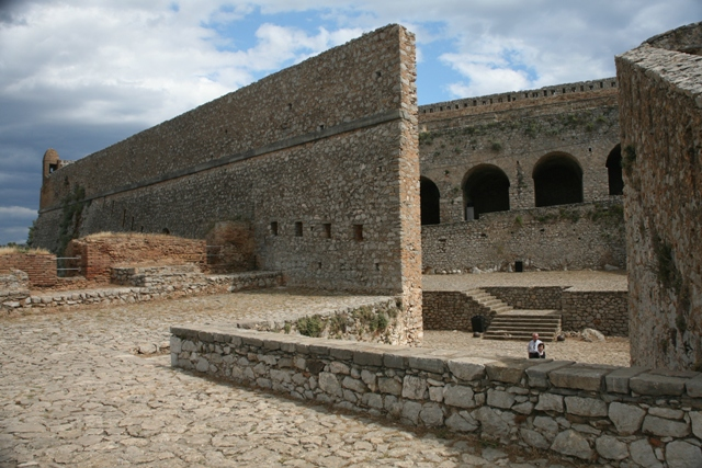 Interior view of the Venetian Palamidi fortress