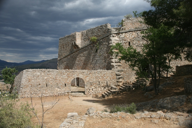 The secondary Venetian fortress of Palamidi