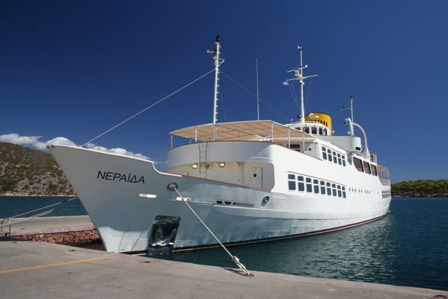 Re-fitted 'Neraida' in Ermioni and Hydra in 2013