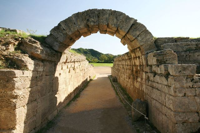 Ancient Olympia - The Crypt archway leading to the stadium