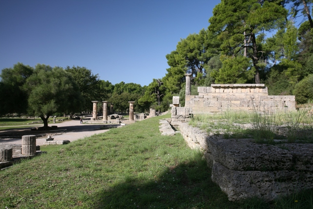 Ancient Olympia - The treasuries