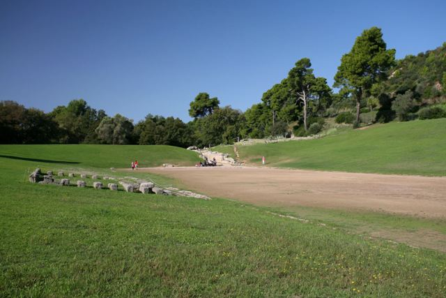 Ancient Olympia - The 50,000 spectator stadium