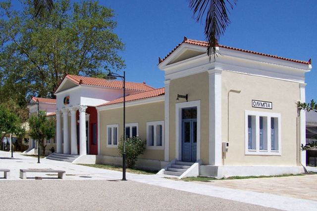 Olympia Town - Neo-classical railway station building