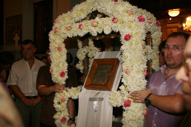 August 14 - Panaghia festival - The Epitaphios carried back to the church