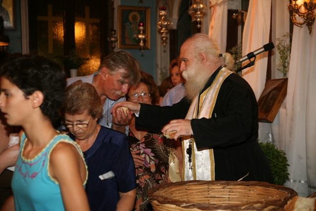August 14 - Panaghia festival - Distribution of the blessed bread