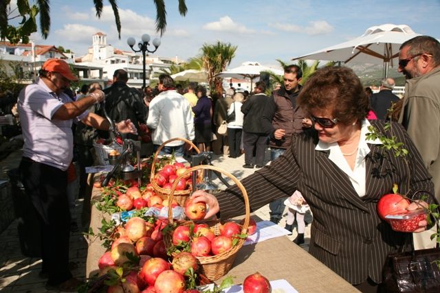 October 21 - The 8th annual Ermioni pomegranate festival