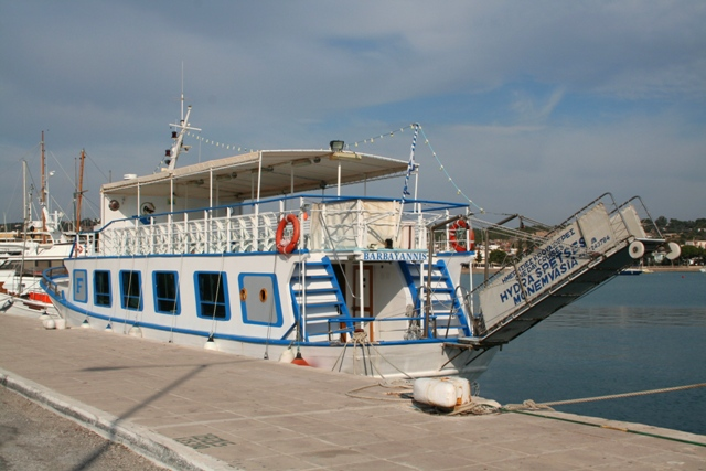 Porto Heli - One of many excursion boats