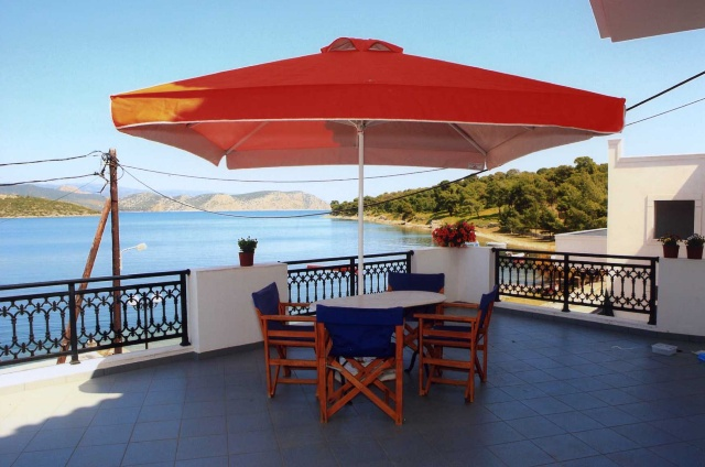 Vasilis' Apartments - Large terrace sea views of Limania and Bisti
