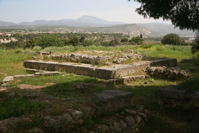 Isthmia Sanctuary - Temple foundations