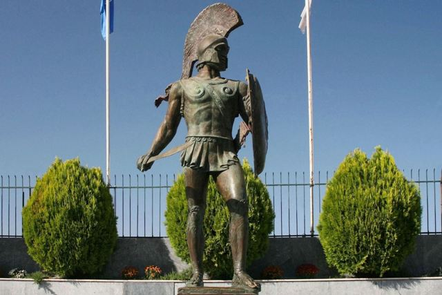 Sparta - Statue of Leonidas located in front of the stadium