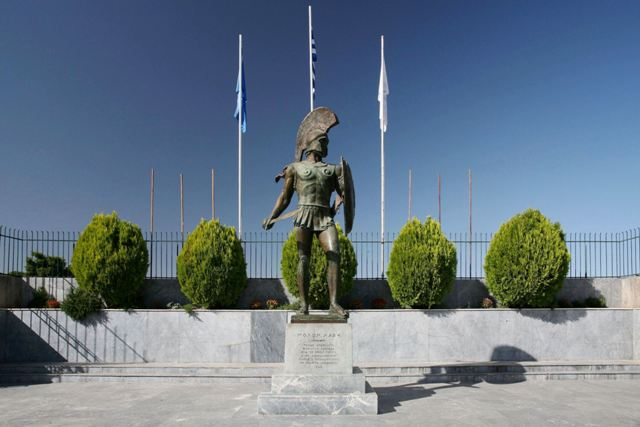 Sparta - Statue of King Leonidas was built in 1968