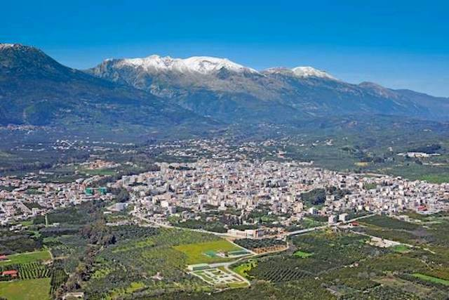Sparta - City of Sparta and Mount Taygetos