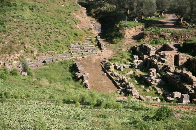 Acropolis of ancient Sparta - The theatre held 16,000 spectators