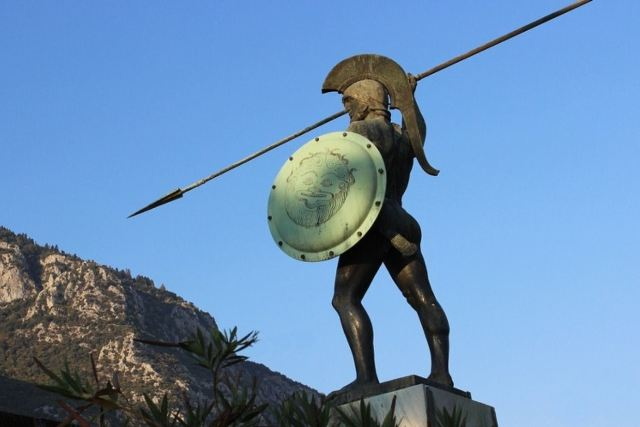 Thermopylae - Statue of King Leonidas - Erected in 1955