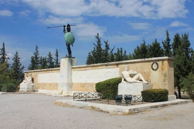Thermopylae - Monument to Leonidas and his 300 Spartans