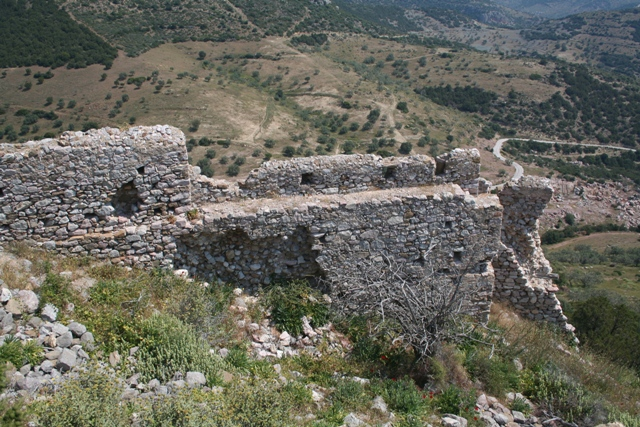 The Crusader battlements of Thermisia castle
