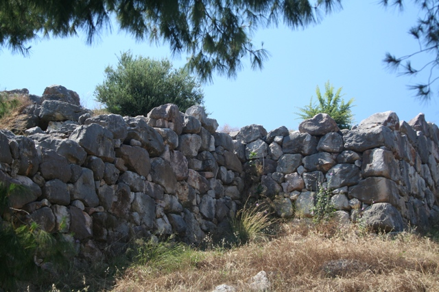 South-East facing defensive walls of Tiryns