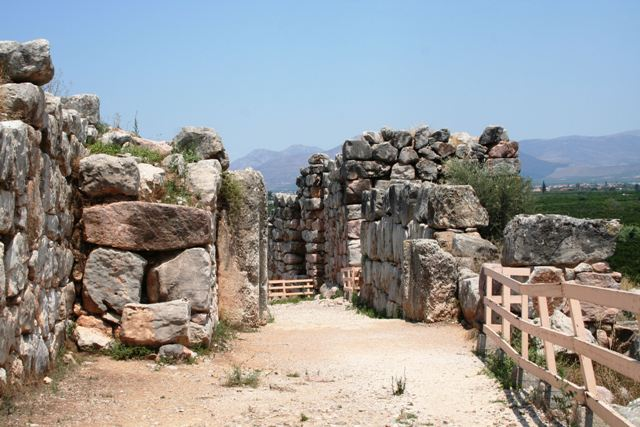 The main gate entrance to the acropolis of Tiryns