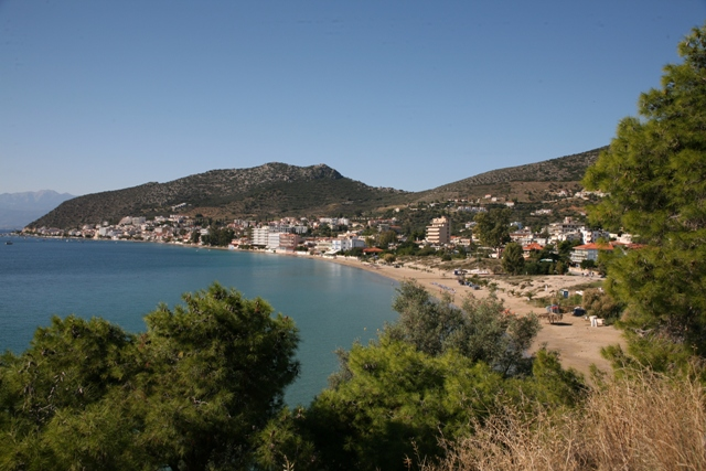The first view of Tolo coming from Nafplio