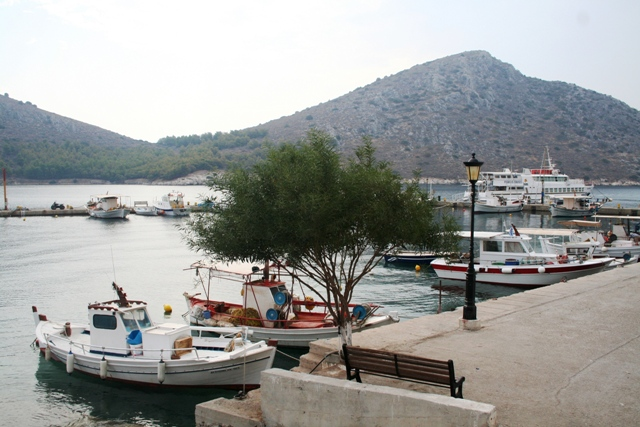 The small port at the western end of the town