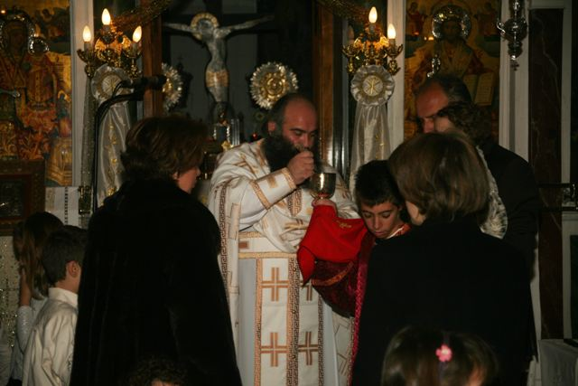 January 1 - St Basil's day - New Year's Day communion