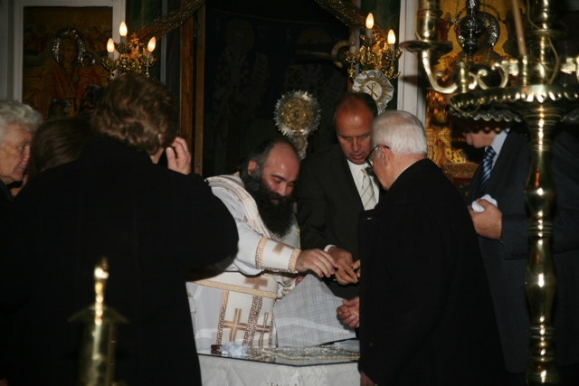 January 1 - St Basil's day - Distributing the 'Vassilopita' cake