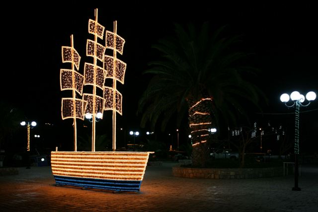 December 25 - Christmas Day - Traditional Greek Christmas boat